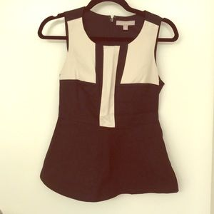 Black and Tan peplum top